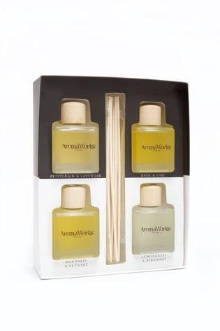 AromaWorks Light Range 4 x 100ml Reed Diffuser Gift Set