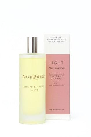 AromaWorks Light Range - Amyris and Orange Room Mist