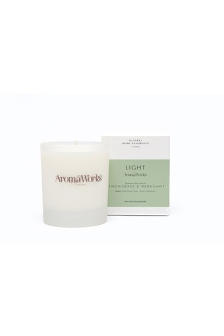 AromaWorks Light Range - Lemongrass & Bergamot 30cl Candle