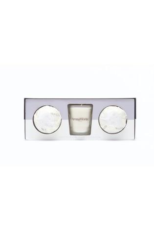 AromaWorks Light Range Petitgrain & Lavender 10cl Candle & Mini Aromabomb Gift Set