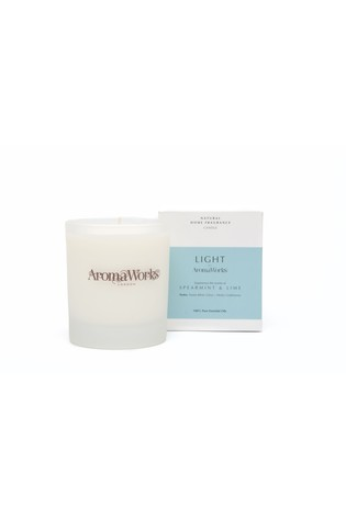 AromaWorks Light Range - Spearmint & Lime 30cl Candle