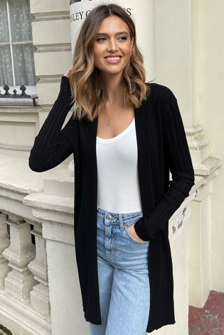 Lipsy Black Knitted Pleated Cardigan