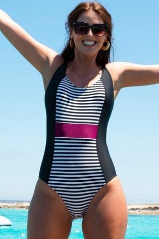 Pour Moi Black Sea Breeze Control Swimsuit