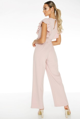 Quiz Pink Frill Jumpsuit