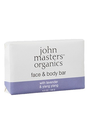 John Masters Organics Face & Body Bar with Lavender & Ylang Ylang 128g