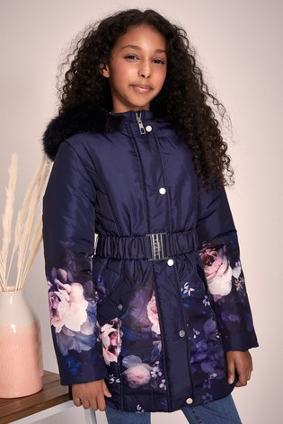 Lipsy Girl Navy Parka Coat