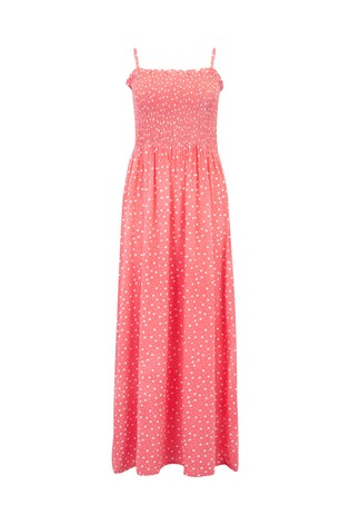 Pour Moi Removable Straps Shirred Bodice Maxi Dress
