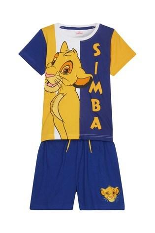 Kids Genius Boys Lion King Simba Pyjama Short Set