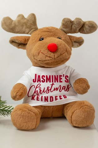 Personalised Soft Christmas Reindeer by Percy & Nell