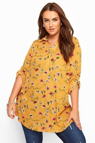 Yours Yellow Curve Overhead Printed Shirt
