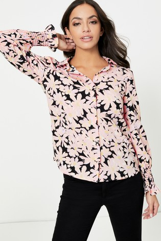 Only Floral Print Frill Detail Shirt