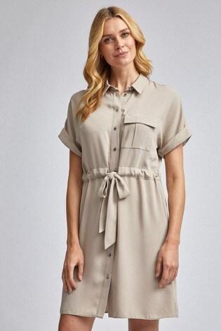 Dorothy Perkins Utility Drawcord Shirt Dress