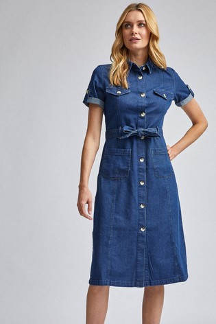 Dorothy Perkins Short Sleeve Shirt Dress