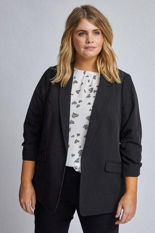 Dorothy Perkins Curve Ruched Sleeve Jacket