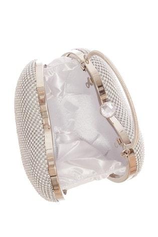 Quiz Silver Diamante Heart Bag