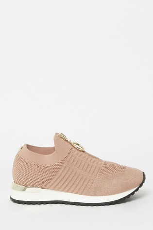 Lipsy Girl Nude Knit Trainer