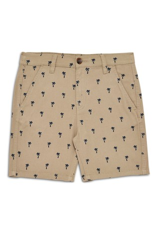 Threadboys Stone Printed Chino Shorts