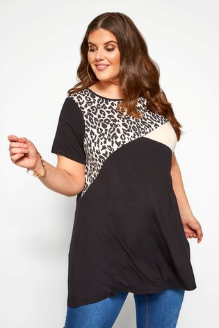Yours Curve Animal Colour Block Swing Top