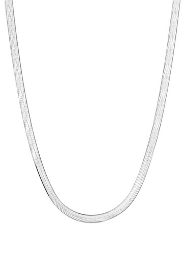 Simply Silver Sterling Silver 925 Flat Snake Allway Necklace