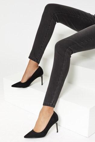 Lipsy Black Comfort Mid Heel Court