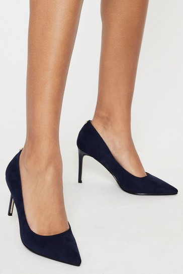 Lipsy Navy Comfort High  Heel Court