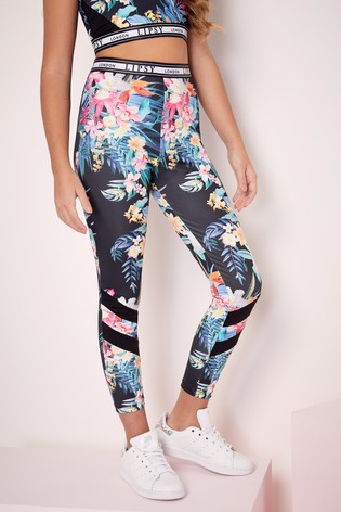 Buy Lipsy Girl Pink Floral Active Leggings from Next Oman