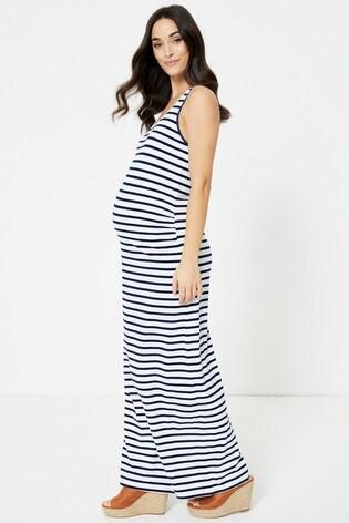 Mamalicious Stripe Maxi Maternity Tank Dress