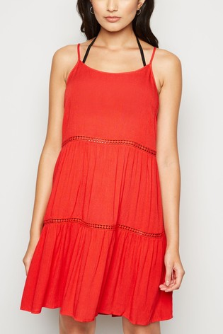 New Look Crochet Insert Swing Dress