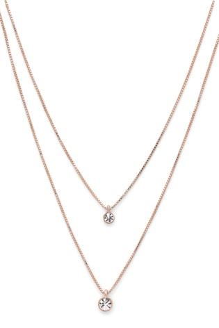 Pilgrim Lucia Plated Crystal Necklace