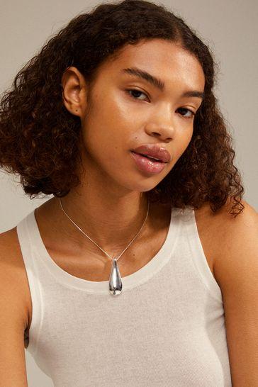PILGRIM Silver Alma Necklace