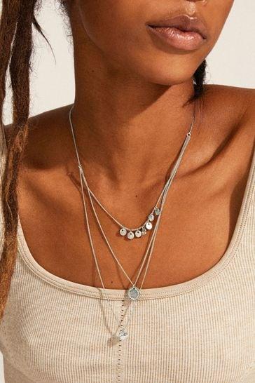 PILGRIM Silver Arden Crystal Necklace