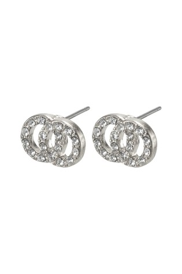 PILGRIM Silver Elaine Plated Crystal Earrings