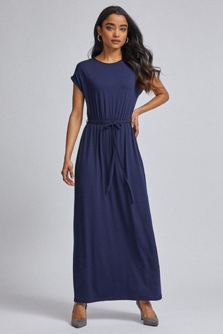 Dorothy Perkins Petite Jersey Roll Sleeve Maxi Dress