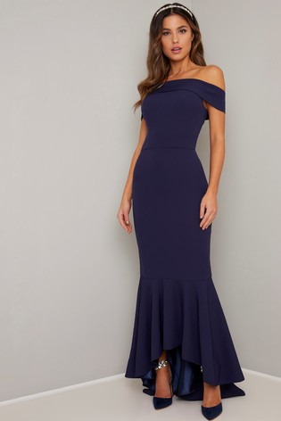 Chi Chi London Navy Chicago Dress