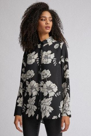 Dorothy Perkins Floral Long Line Shirt