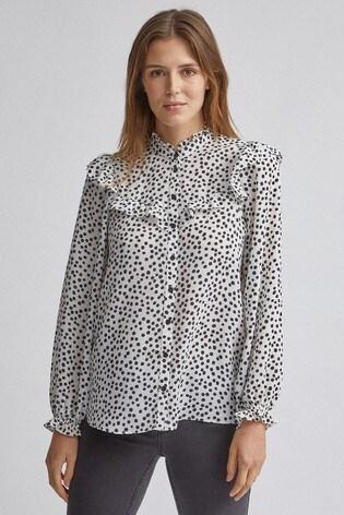 Dorothy Perkins Frill Yoke Button Through Shirt