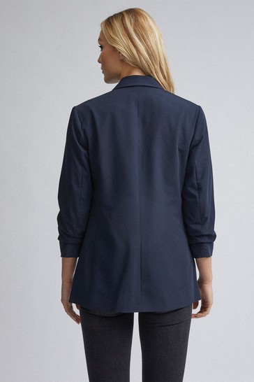 Dorothy Perkins Navy Tall Ruched Sleeve Jacket
