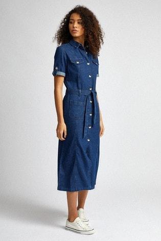 Dorothy Perkins Tall Denim Shirt Dress