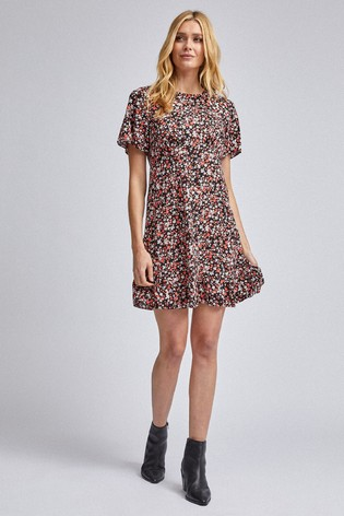 Dorothy Perkins Floral Ditsy Fit And Flare Dress