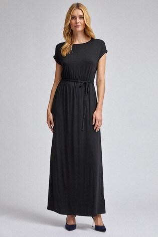 Dorothy Perkins Plain Roll Sleeve Maxi Dress
