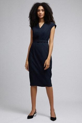 Dorothy Perkins V neck Minimal Belte Dress