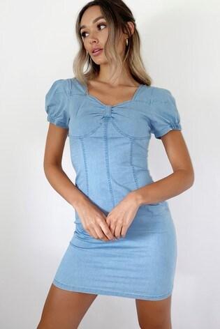Quiz Puffed Sleeve Dress