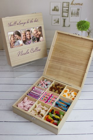 Personalised 9 Compart Mum Photo Sweets by Great Gifts