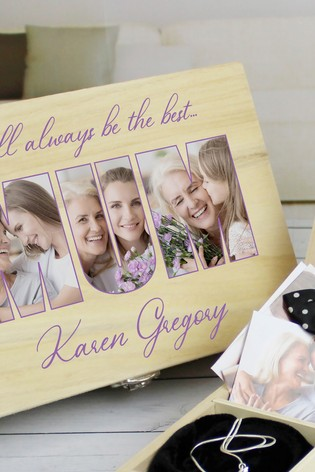 Personalised 6 Compart Mum Photo Storage by Great Gifts