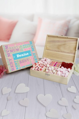 Personalised 9 Compart Best Mum Sweets by Great Gifts
