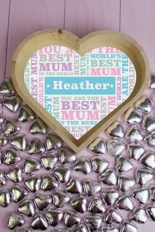 Personalised Best Mum - Large Love Heart Tray by Great Gifts