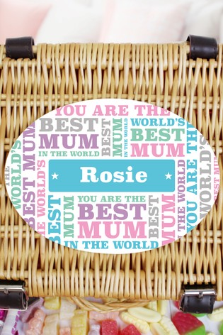 Personalised Best Mum - Retro Sweet Hamper by Great Gifts