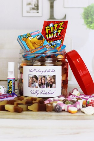 Personalised Mum Retro Sweet Photo Jar By Great Gifts