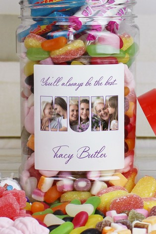 Personalised Mum Photo Sweet Jar by Great Gifts