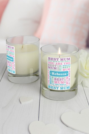 Personalised Best Mum Candles by Great Gifts